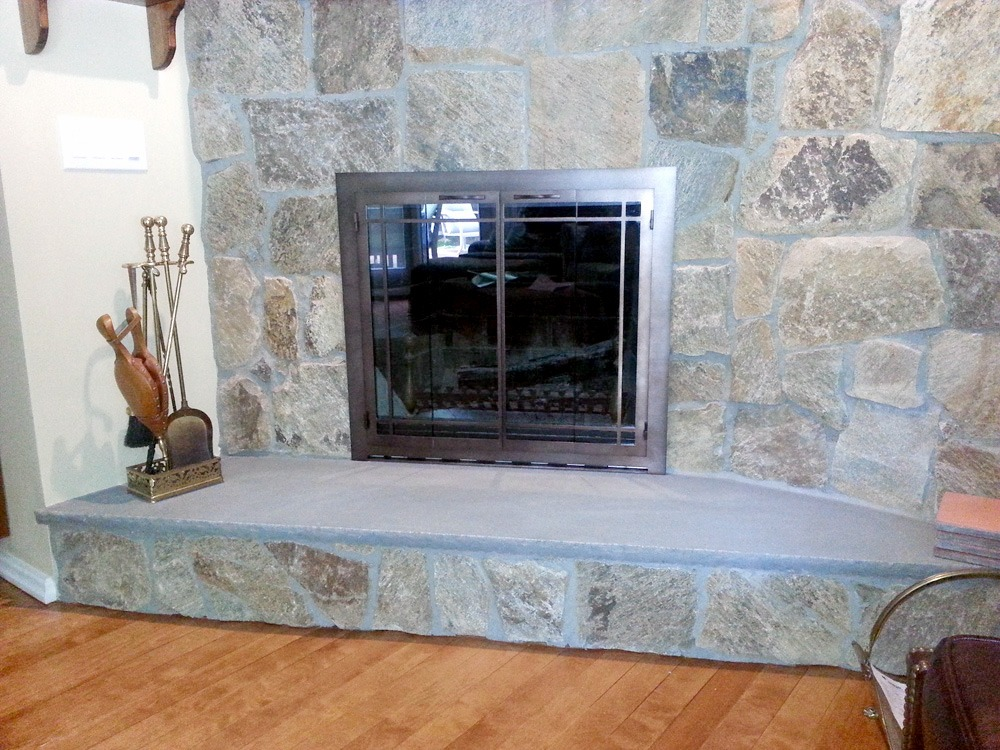 Fireplace Glass Door After