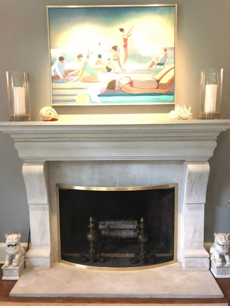 Convex Screen for Fireplace
